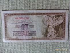Billete Yugoslavia. 10 Dinares. 1968 - Yugoslavia