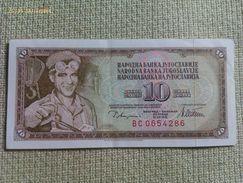 Billete Yugoslavia. 10 Dinares. 1978. Muy Buena Conservación - Yugoslavia