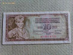 Billete Yugoslavia. 10 Dinares. 1978 - Yugoslavia