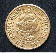 Rare Jeton Représentant Une Pièce De David D'Ecosse - Walt Disney - Paperon De' Paperoni - Picsou - Uncle Scrooge - Non Classés