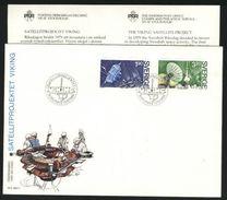 Sweden. FDC 1984 Cachet. Viking Satellite Project. Engraver Martin Morck. - FDC