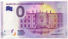 2017-1 BILLET TOURISTIQUE 0 EURO SOUVENIR N°UEND000973 MUSEE DE LA GENDARMERIE NATIONALE - Private Proofs / Unofficial