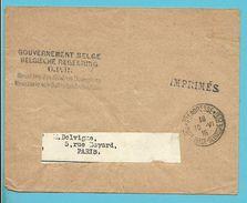 Drukwerkbandje (imprime) Met Stempel STE-ADRESSE / POSTE BELGE Op 10/6/18 + GOUVERNEMENT BELGE O.P.B. - Guerre 14-18