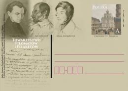 Poland 2017, Filaret Association, Secret Organization, Patriotic Literature. Poets: Zan, Czeczot, Mickiewicz. Stationery - Stamped Stationery