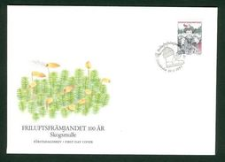 Sweden.  Fdc 1992 Cachet. Outdoor Life Association.  Engraver Cz Slania - FDC