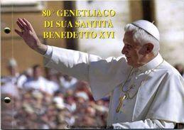CITTA DEL VATICANO ANNO 2007 - 2 € - 80° GENETLIACO SUA SANTITA' BENEDETTO XVI -  BUSTA FILATELICO NUMISMATICA - Vaticano