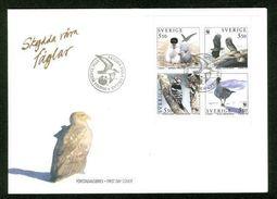 Sweden.  FDC 1994 Cachet. Bird Protection.  Engraver Cz.  Slania - FDC