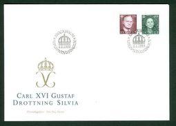 Sweden. FDC 1995 Cachet King Gustaf Queen Silvia. Engraver Cz. Slania - FDC
