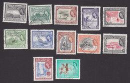 British Guiana, Scott #253-263, 269, Used, Scenes Of British Guiana, Issued 1954-61 - British Guiana (...-1966)