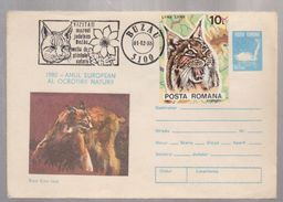 FAUNA, ANIMALS,  COVER  ROUMANIE,1988, BUZAU, PROTECT NATURE WITH SPECIAL POSTMARK - Enteros Postales