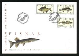 Sweden. FDC Cachet 2001. Fish.  Wilhelm Von Wright. - FDC