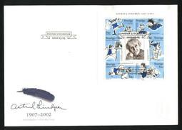 Sweden. FDC Cachet 2002 Astrid Lindgren (1907-2002) - FDC