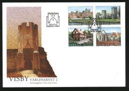 Sweden FDC Cachet  2002.  World Heritage # 2  Visby. Engraver P. Naszarkowski - FDC