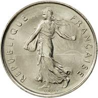 France, Semeuse, 5 Francs, 1990, Paris, SUP+, Nickel Clad Copper-Nickel - France
