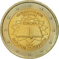 Autriche, 2 Euro, Traité De Rome 50 Ans, 2007, SUP, Bi-Metallic - Autriche
