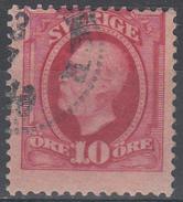 D6975 - Sweden Mi.Nr. 43 O/used, 2 Scans - Suède