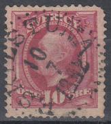 D6976 - Sweden Mi.Nr. 43 O/used, 2 Scans - Suède