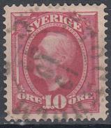D6977 - Sweden Mi.Nr. 43 O/used, 2 Scans - Suède