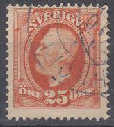 D6979 - Sweden Mi.Nr. 46 O/used, 2 Scans - Suède