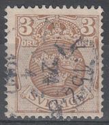 D6982 - Sweden Mi.Nr. 66 O/used, 2 Scans - Suède
