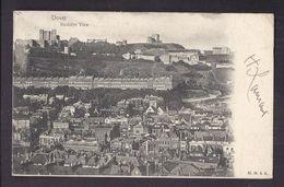 CPA ANGLETERRE - DOVER - DOUVRES - Birdslye View - TB PLAN Et Vue D'une Partie De La Vile Avec Détails TB VERSO 1903 - Dover