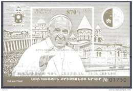 2016. Armenia, Visit Of Pope Francis To Armenia, Luxe-Block, Mint/** - Armenia