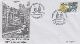 Enveloppe   50éme  Anniversaire  De  La   LIBERATION   BRIANCON   1994 - Guerre Mondiale (Seconde)