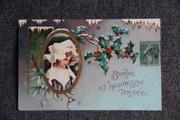 Bonne Et Heureuse Année, Carte Gaufrée. - Neujahr