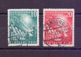 Bund 1949 - Bundestag MiNr. 111/112 Rund Gestempelt - Michel 45,00 € (316) - Used Stamps