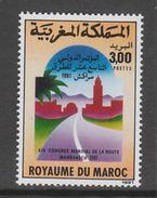 TIMBRE NEUF DU MAROC - XIXE CONGRES MONDIAL DE LA ROUTE, A MARRAKECH N° Y&T 1107 - Transport