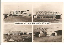 Vlake.Verkeers- En Spoorbruggen.4-Luik.Blokstempel Vlissingen-Roosendaal VI - Netherlands