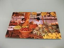STORIA POSTALE FRANCOBOLLO COMM. TAILANDIA BOAT WOMEN VENDORS SELLER OF FRUITS IN THE KLONG  CANAL BANGKOK MARKET - Mercanti