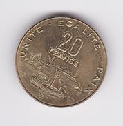 20 Francs Djibouti 2016 SUP / UNC - Djibouti