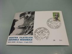 STORIA POSTALE FRANCOBOLLO COMMEMORATIVO ANNO SANTO ITALIA PIEVE LIGURE  MOSTRA FILATELICA GIOVANILE 1976 GENOVA - Genova (Genoa)
