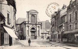 """35 - RENNES - Place Et Rue De La Visitation - Commerces - """"AU GALERIES DE ZINC"""" - """"L. ONFRAY"""" - Rennes"""