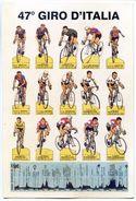 C028> Cartolina 47° GIRO D'ITALIA - Vincitore Jacques Anquetil = Non Viaggiata 1964 - Ciclismo