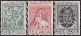 531 Vaticano 1972 Cardinale Bessarione Nuovo MNH Full Set - Teologi