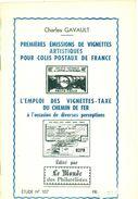 VIGNETTES COLIS POSTAUX C.GAVAULT 1969 Tirage 400 Ex. 16 Pages état Neuf. - Strade Ferrate