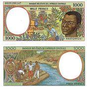 Gabun Zentral Afrikanisch State Afrika Geldschein 1000 Franken 2000 L P402L Unc - Gabon