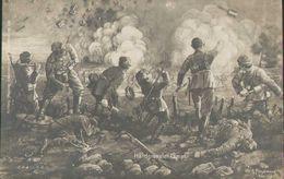 Soldaten Im Handgranatenkampf, Feld-Postkarte, Militär, Deutsches Reich, Weltkrieg - War 1914-18