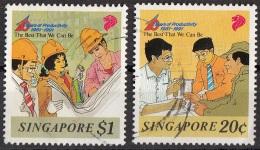 609 Singapore  1991  10 Years Of Productivity Used Full Set - Singapore (1959-...)
