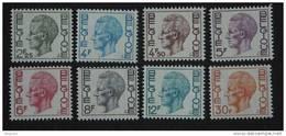 België Belgique Belgium 1972 Boudewijn Baudouin Type Elström Fosfer Papier 1642-1649 Yv 1581A-1581F + 1584A 1587A MNH ** - 1970-1980 Elström