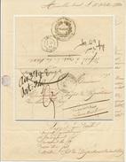 AUXELLES HAUT Lettre De 1840 Cursive Giromagny Lettre Refusée à Cause De La Taxe - Postmark Collection (Covers)