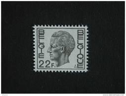 België Belgique Belgium 1974 Boudewijn Roi Baudouin Type Elström 1727 Yv 1720 MNH ** - 1970-1980 Elström