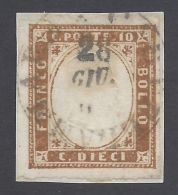 SARDEGNA 1855 10c BRUNO BISTRO Nº  14Co - Sardegna