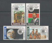 Kenya 1983 Commonwealth Day Y.T. 256/259 ** - Kenya (1963-...)