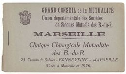 Carnet ( 11 Cp Sur 12 ) Marseille, Clinique Chirurgicale Mutualiste Des B. Du R. - Marseille