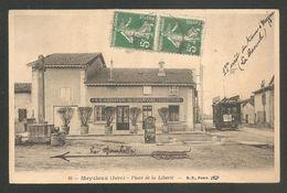 16 -- Meyzieux (Isére) - Place De La Liberté - A L'ARRIVE Du TRAMWAY - THEVENON -- TRAMWAY - TRAIN - TRAM - CROIX - - Meyzieu