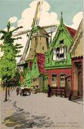 6 PC Pub.Verkade  Zaandam   Illustrator .Alfred Ost  Molen Fabrieken Oude Gevels Specerijmolen Litho - Reclame