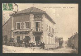JONAGE  (Isére) - Rue Nationale - Hôtel De La Mairie -- Voyagé 1913 - France